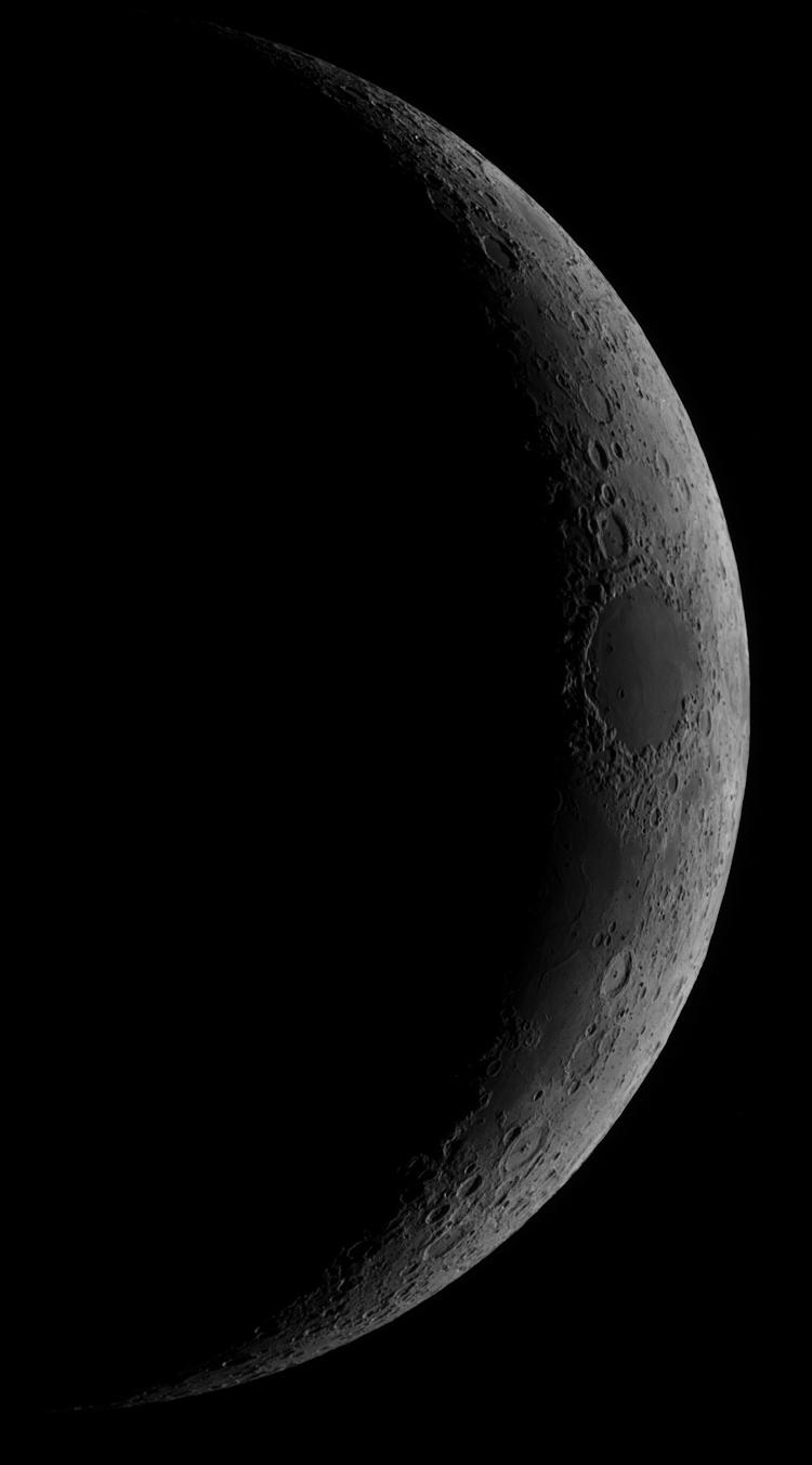 Croissant lunaire le 28 janvier 2020