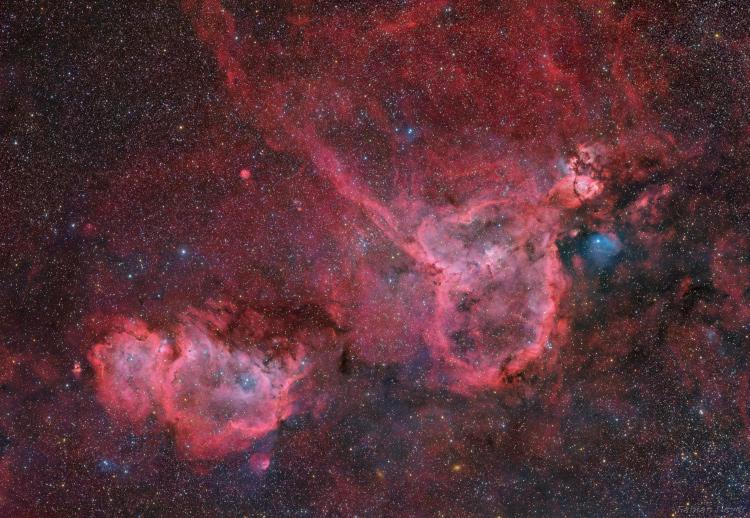 La nébuleuse du Coeur et de l'Ame IC1805